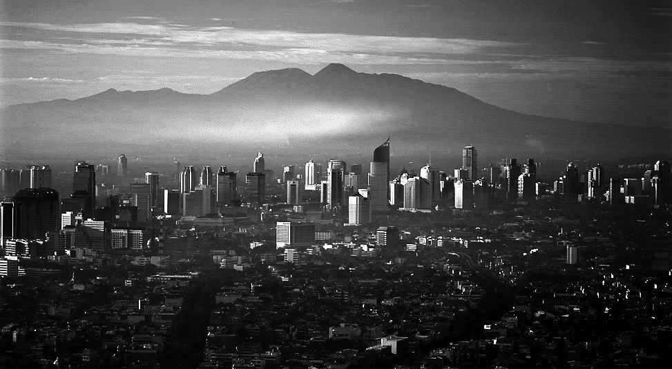 Jakarta on a clean air pollution day
