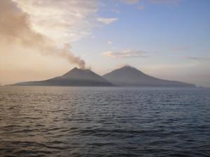 Krakatau & Rakata as seen from Sertung Island