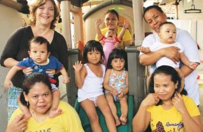 The Family at Lestari Sayang Anak Orphanage
