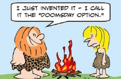 Doomsday Option Fire Caveman