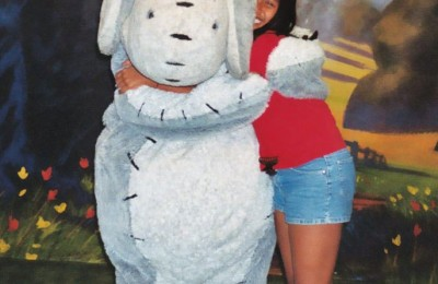 My_daughter_being_silly_with_Eeyore