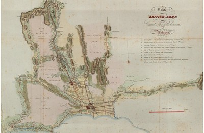 Route of the British Army in 1811 by E. Gullan based on sketches and field surveys by Major William Thorn