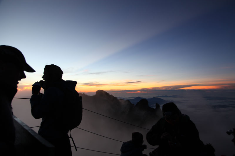 At the top of Mount Kinabalu