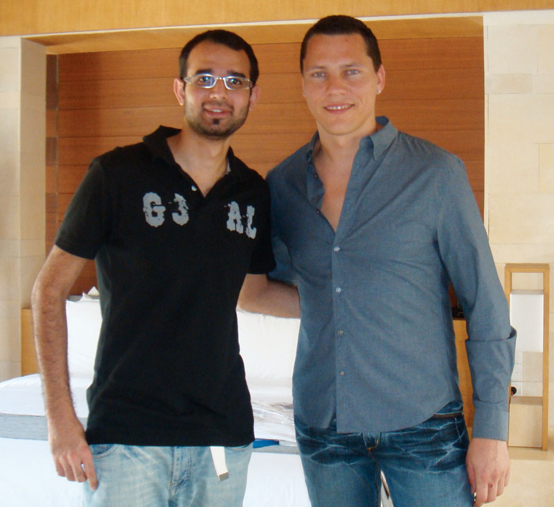 Darshan with DJ Tiesto
