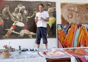 Pablo Gentile in the studio