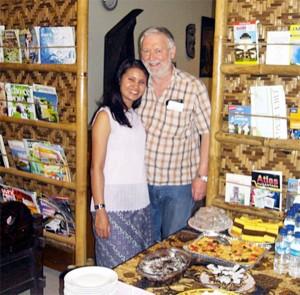 Bob Holland and Riga at the Bamboo Shack