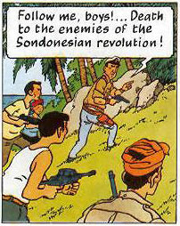 Sondonesian Rebels in Tintin
