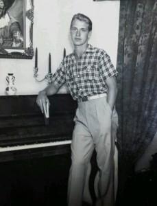 Anibal Oprandi as a young man