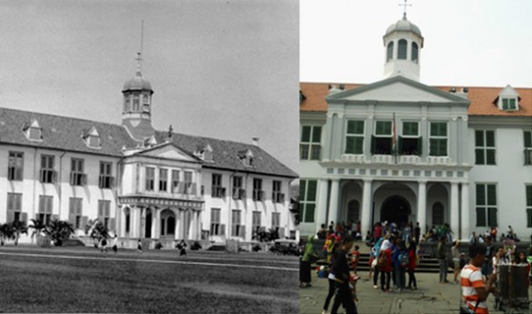 Stadhuis - early 1900 and 2012