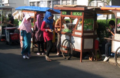 Kaki Lima - street vendors in Jakarta