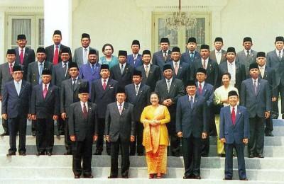 President Megawati's Kabinet Gotong Royong