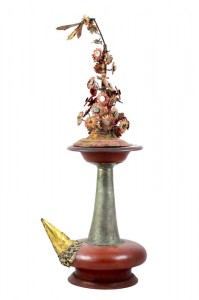 Tall Balinese Kendi with decorations