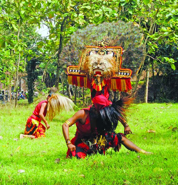 Reog performance - photo by Tess Joyce