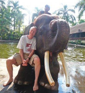 Bill with elephant