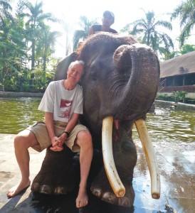 Bill with elephant