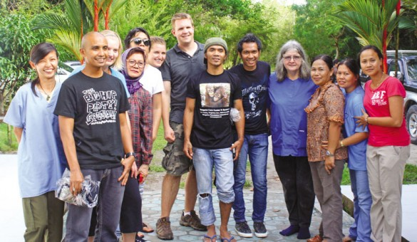 Dr Galdikas with Slank