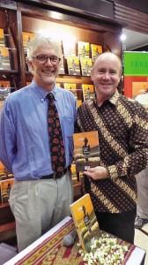 Mark Heyward and Australian ambassador Greg Moriarty