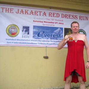 The Jakarta Red Dress Run 2013
