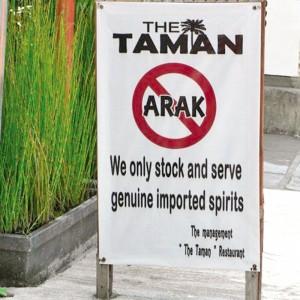 No-Arak Sign