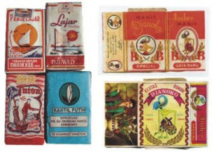 Old Kretek Cigarette Packets