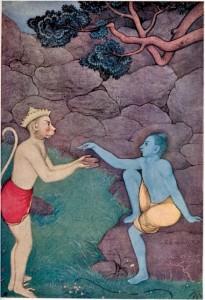 Rama sending his signet ring to Shinta