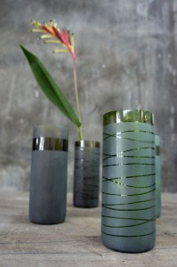 Glassware Made from Recyclable Rubbish