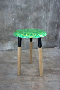Stool Made from Recyclable Rubbish