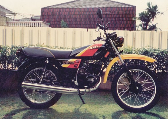 My Yamaha YT115 on delivery day March 1992