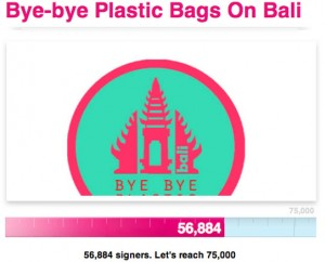 Bye-Bye Plastic Bag On Bali Petition