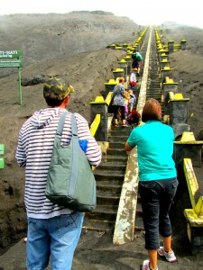Climbing the 250 concrete steps