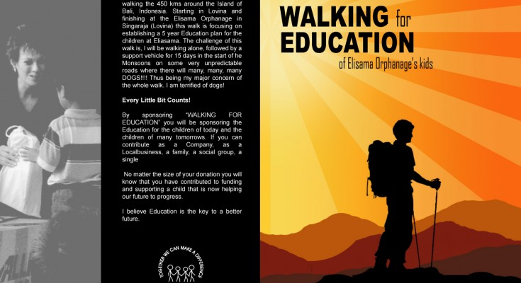 Walking for education poster