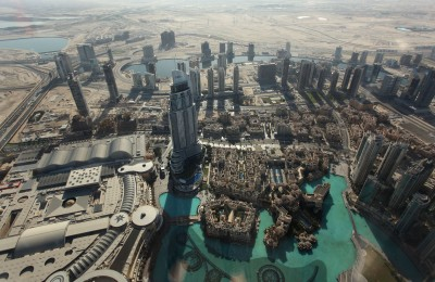 View from Dubai Mall from Burj Khalifa, the tallest building in the world_300 dpi
