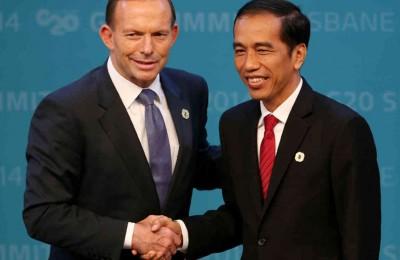 Australian Prime Minister Tony Abbott and President Joko Widodo