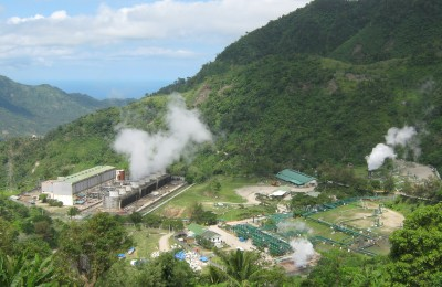 Puhagan geothermal plant in the Philippines CC Wikipedia