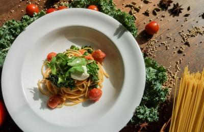 Kale and Tomato Spaghetti at Potato Head