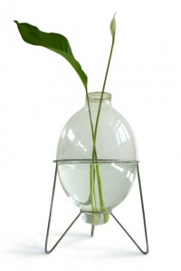A vase made from a used fishing boat light bulb