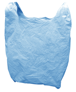 Many plastic bags are thrown into the seas