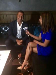 Nicole interviewing Ruud Gullit