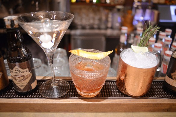 From left to right: Gibson, Haus no. 1 and Moscow Mule | Courtesy of Dimas Juliarta