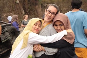 New Colombo Plan student Nicole Winter on a study tour to Indonesia   Courtesy of DFAT