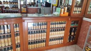 Organic honey sold at Madu Pramuka