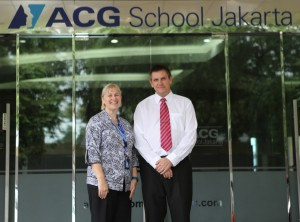 Dr. Tasker with, Vice Principal of ACG Primary, Sarah-Jane Green