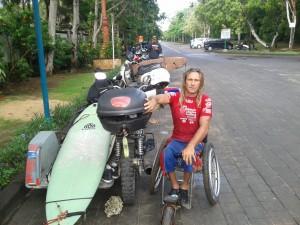 Bruno and his self-engineered motorbike