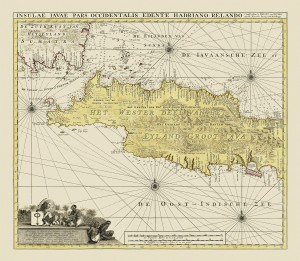Gerard Van Keulen's magnificent 1728 map of Java | Photo courtesy of Bartele Gallery