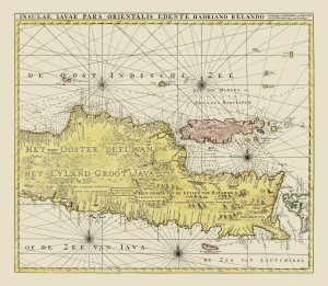 Gerard Van Keulen's magnificent 1728 map of Java