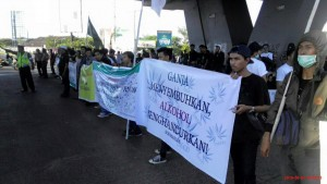 LGN at the Global Marijuana March in Makassar