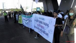 LGN at the Global Marijuana March in Makassar