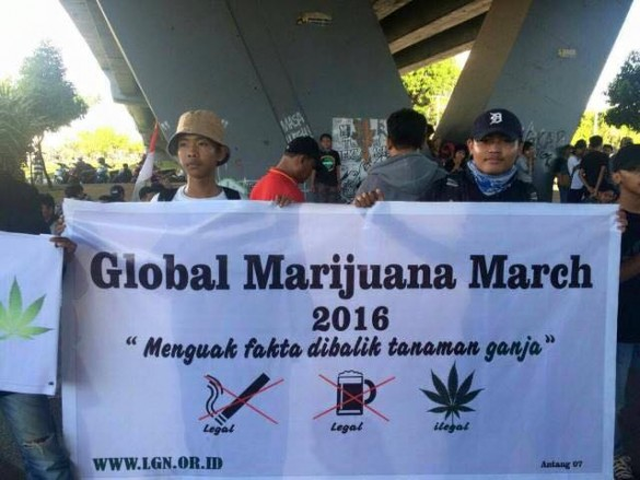 LGN at the Global Marijuana March on May 7