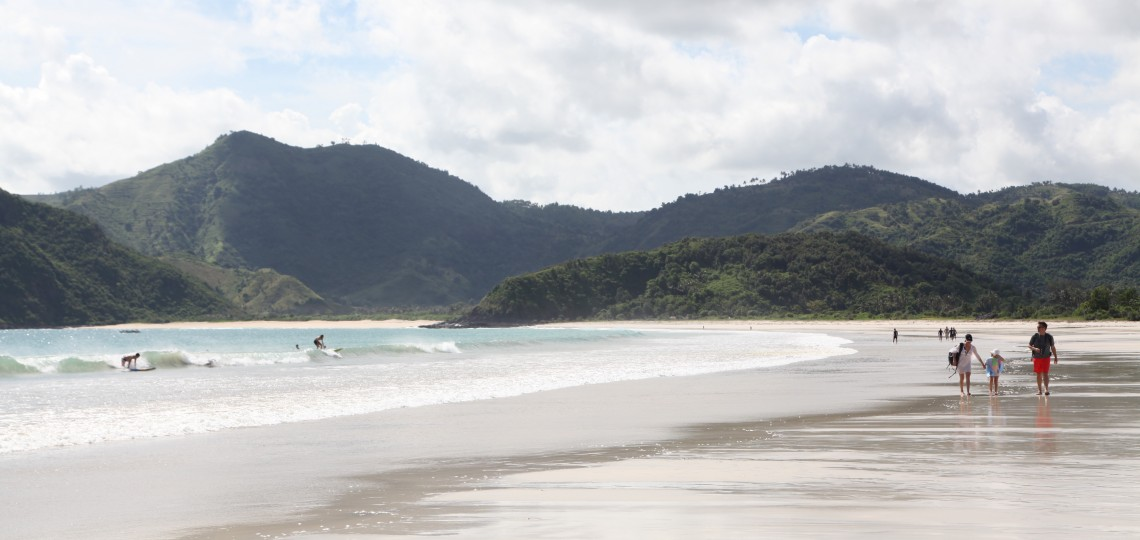 Selong Belanak Beach in Lombok. Photo by Angela Richardson