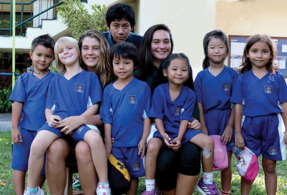 Bali Island School students